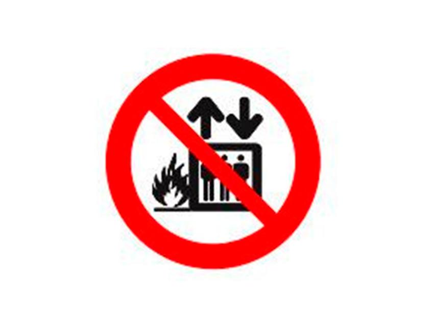 Placa-P4---151x151-mm-Proibido-Utilizar-Elevador