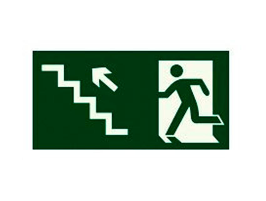 Placa-S10---252x126-mm---Saída-Escada-Sobe-Esquerda
